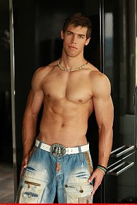 Gay porn model Kris Evans