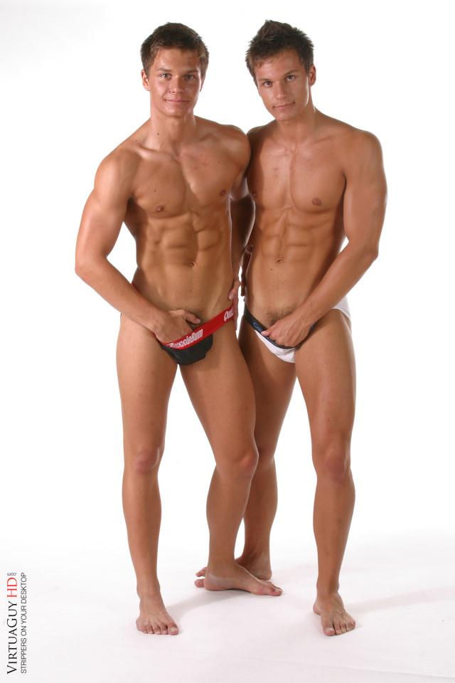 Erotic striptease of Peters Twins