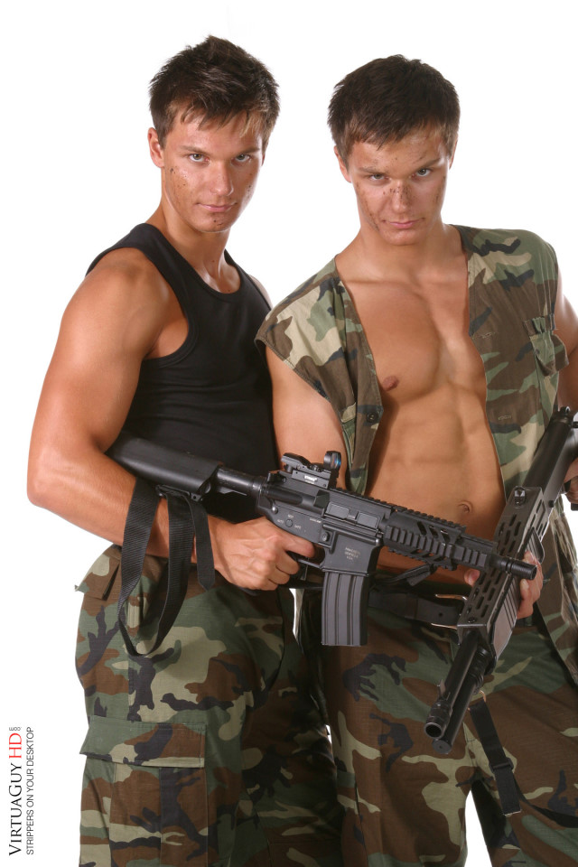Peters twins Armed with guns