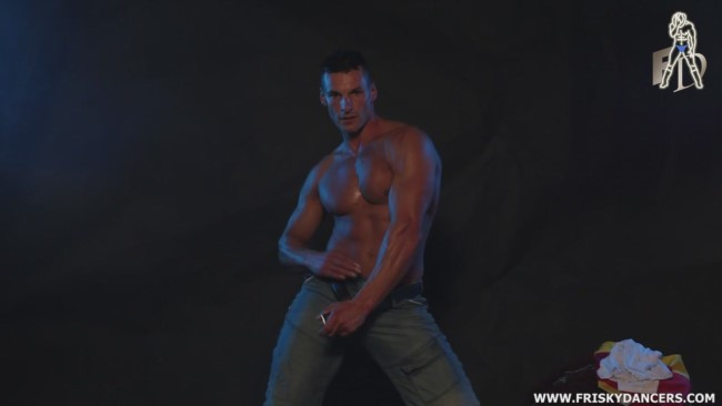 hot muscle male stripper