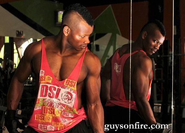 seducing black bodybuilder