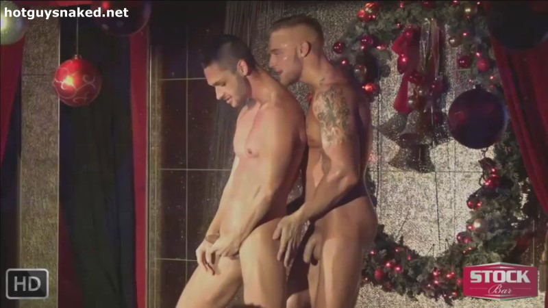 two gay strippers mnaked