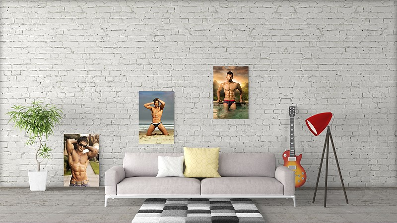 male photo wall art