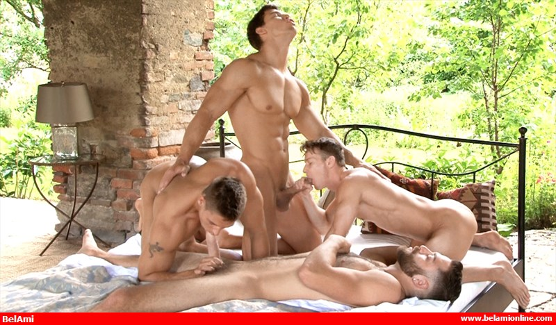 Big cock hunks foursome sex