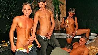 Czech gay sex party